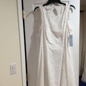 NWT London Times white lace dress, size12
